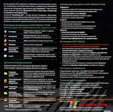 Screenshot ESET NOD32 Titan Windows XP