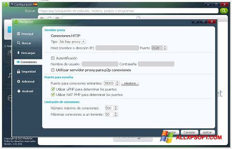 Screenshot MediaGet Windows XP