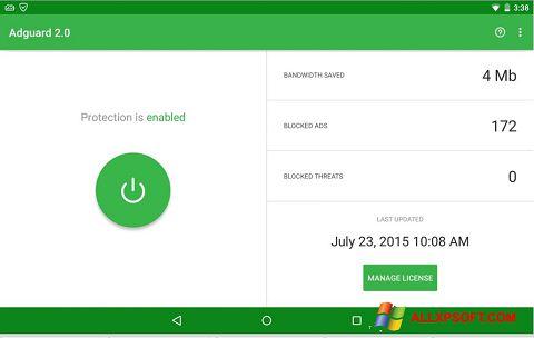 Screenshot Adguard Windows XP