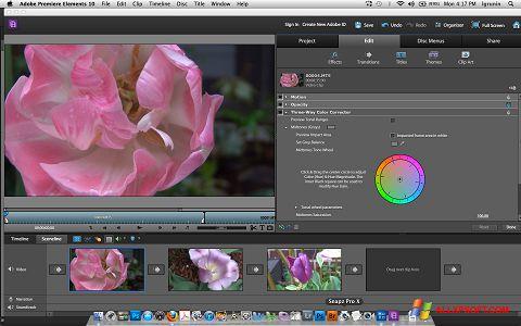 Screenshot Adobe Premiere Elements Windows XP