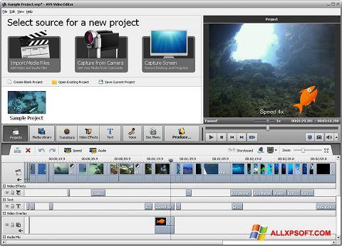 Screenshot AVS Video Editor Windows XP