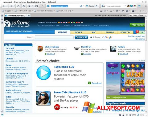 Screenshot Lunascape Windows XP