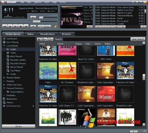 Screenshot Winamp Windows XP