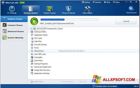 Screenshot Wise Care 365 Windows XP