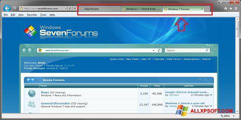 Screenshot Internet Explorer Windows XP