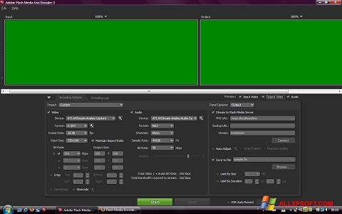 Screenshot Adobe Media Encoder Windows XP