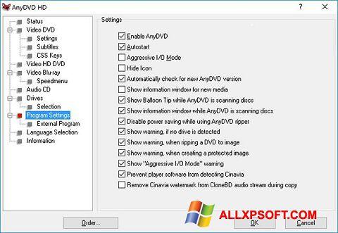 Screenshot AnyDVD Windows XP