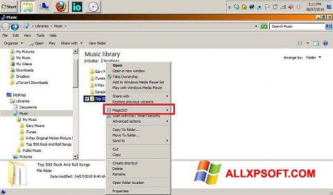 Screenshot MagicISO Windows XP