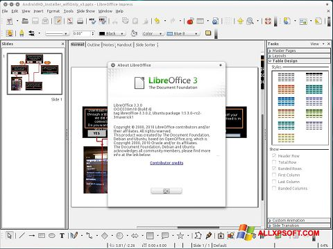 Screenshot LibreOffice Windows XP