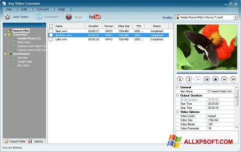 Screenshot Any Video Converter Windows XP