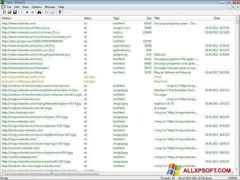 Screenshot Xenu Windows XP