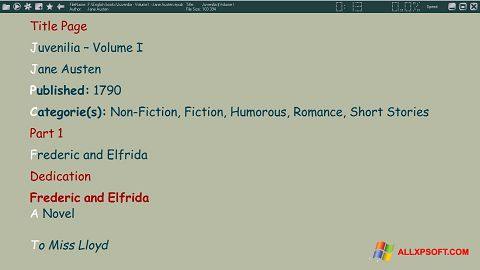 Screenshot ICE Book Reader Windows XP