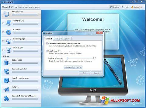 Screenshot CleanMyPC Windows XP