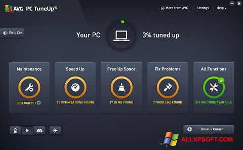 Screenshot AVG PC Tuneup Windows XP