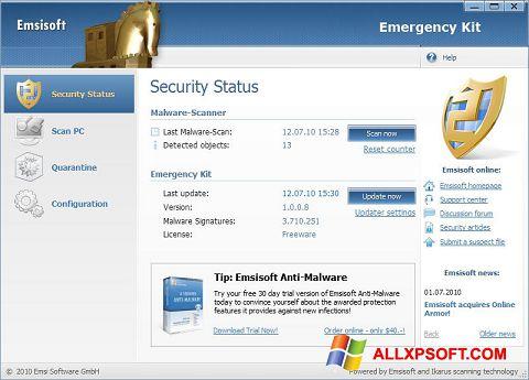 Screenshot Emsisoft Emergency Kit Windows XP