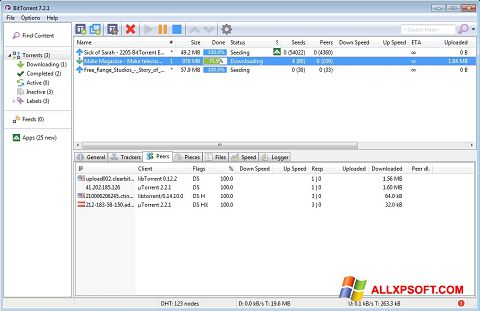 Screenshot BitTorrent Windows XP