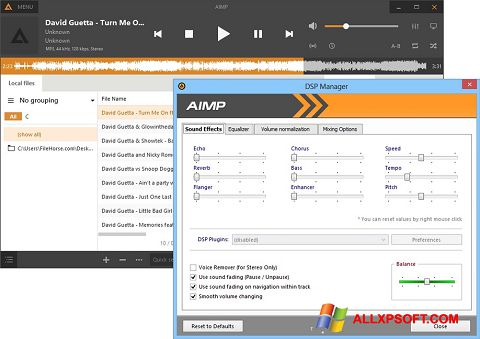 Screenshot AIMP Windows XP