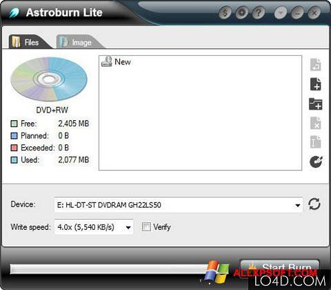 Screenshot Astroburn Lite Windows XP