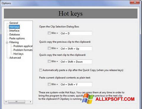 Screenshot Clipdiary Windows XP