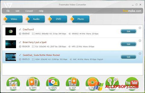 Screenshot Freemake Video Converter Windows XP
