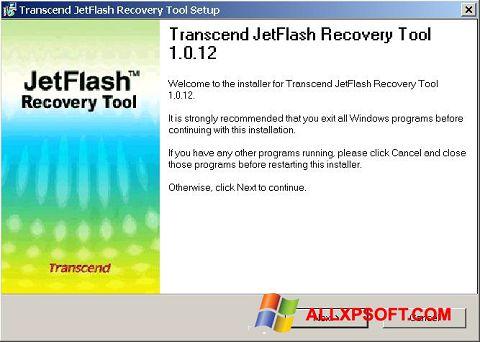 Screenshot JetFlash Recovery Tool Windows XP