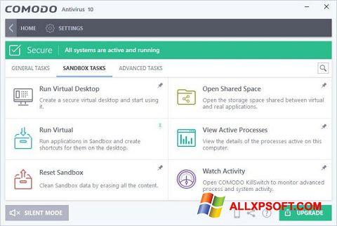 Screenshot Comodo Antivirus Windows XP