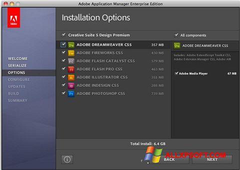 Screenshot Adobe Application Manager Windows XP