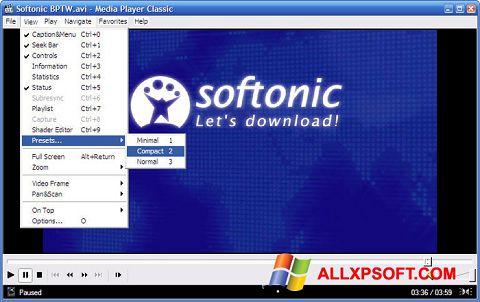 Screenshot Media Player Classic Windows XP