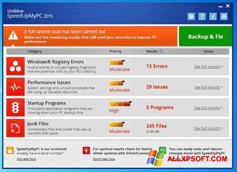 Screenshot SpeedUpMyPC Windows XP