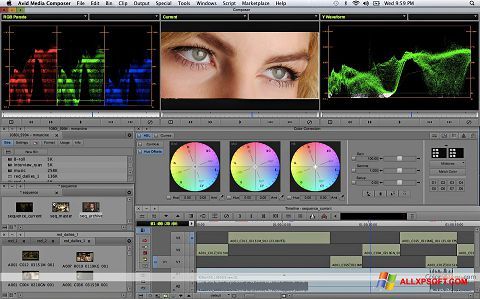 Screenshot Avid Media Composer Windows XP