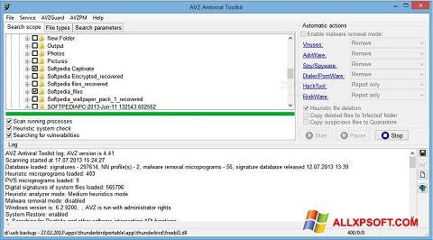 Screenshot AVZ Windows XP