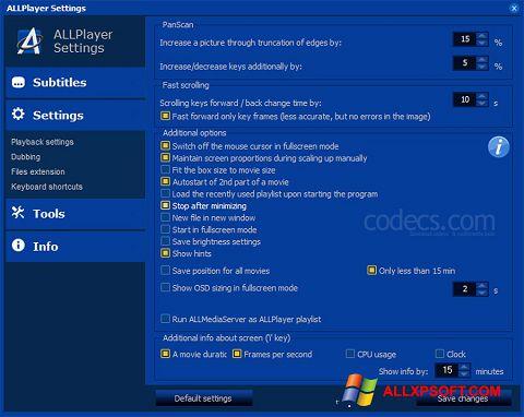 Screenshot ALLPlayer Windows XP