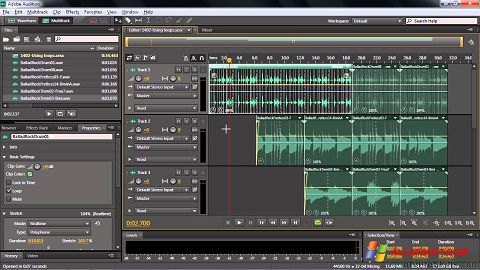 Screenshot Adobe Audition CC Windows XP