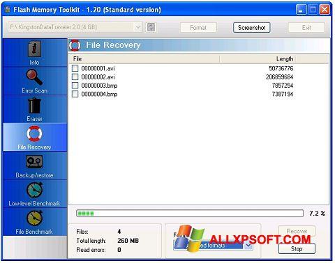 Screenshot Flash Memory Toolkit Windows XP
