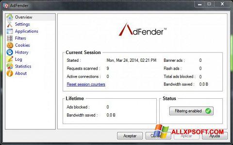 Screenshot AdFender Windows XP
