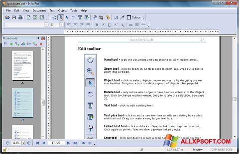 Screenshot Infix PDF Editor Windows XP