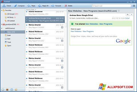 Screenshot FoxMail Windows XP