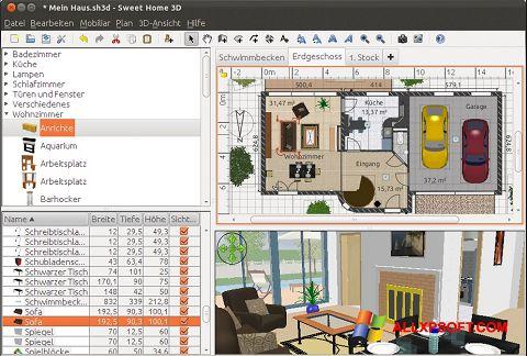 Screenshot Sweet Home 3D Windows XP