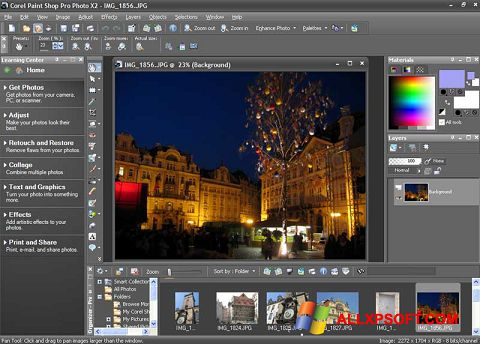 Screenshot PaintShop Pro Windows XP