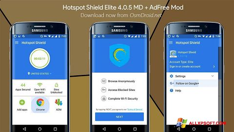 Screenshot Hotspot Shield Windows XP