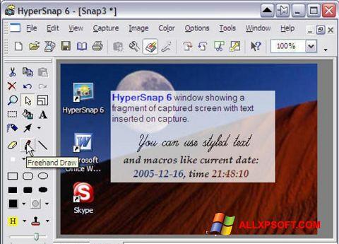 Screenshot HyperSnap Windows XP