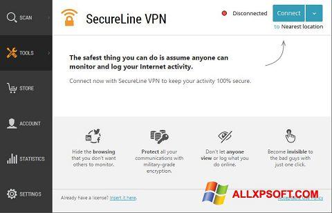 Screenshot Avast SecureLine VPN Windows XP