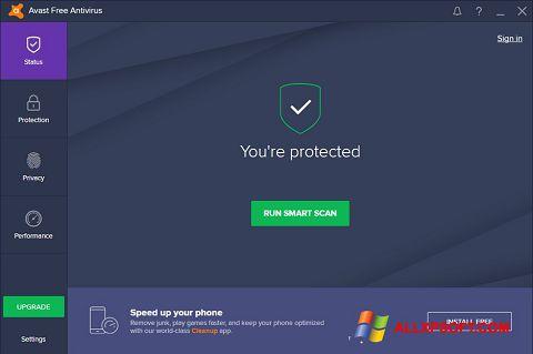 Screenshot Avast Free Antivirus Windows XP