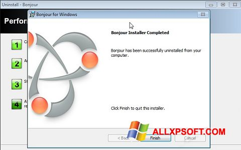 Screenshot Bonjour Windows XP