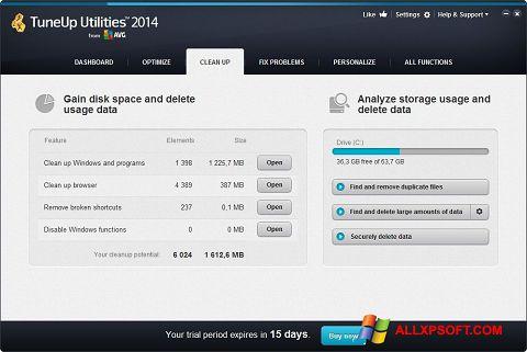Screenshot TuneUp Utilities Windows XP