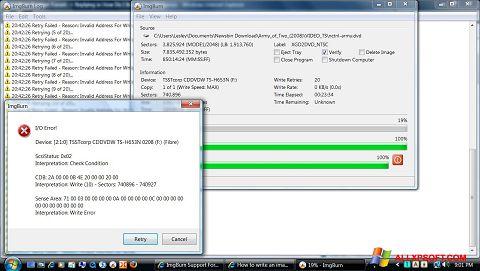Screenshot ImgBurn Windows XP