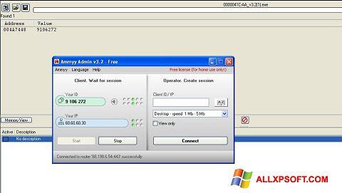 Screenshot Ammyy Admin Windows XP