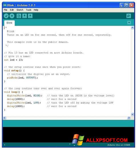 Screenshot Arduino Windows XP