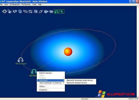 Screenshot BlueSoleil Windows XP