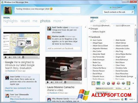 Screenshot Windows Live Messenger Windows XP